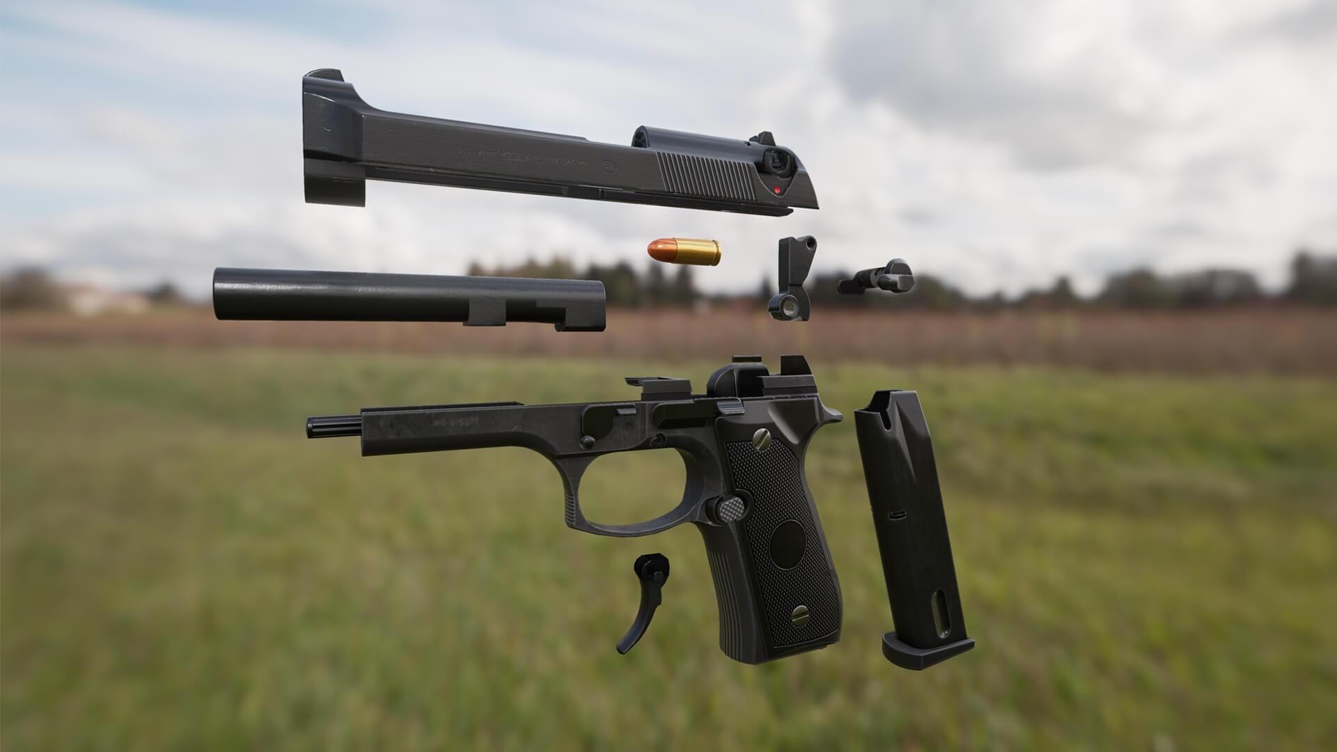 3D Weapon - Pistol parts