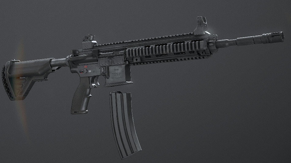 Animated FPS HK416D Rifle Pack