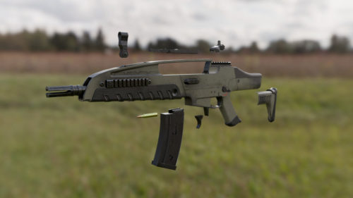 3D Weapon - Submachine gun