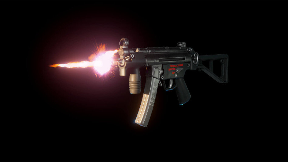 Animated FPS MP5k SMG Pack