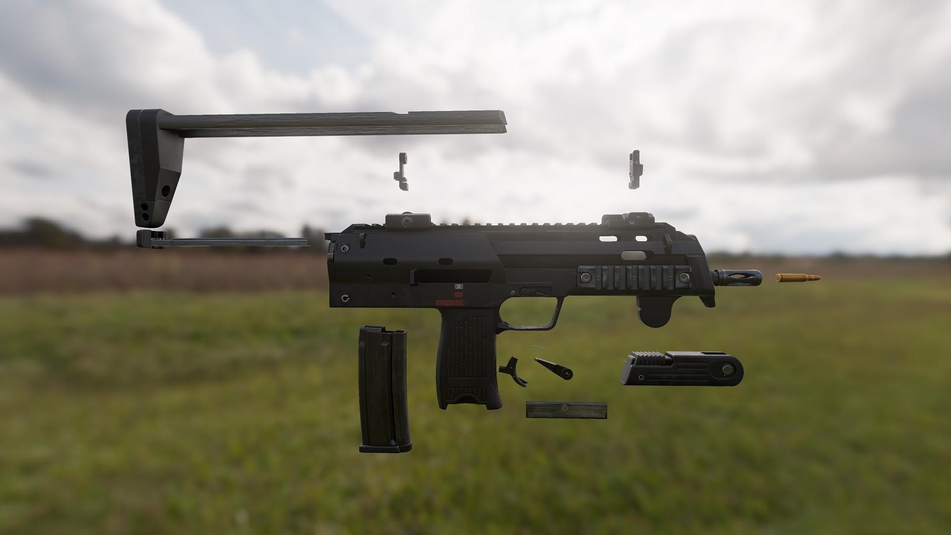 3D Weapon - Submachine parts